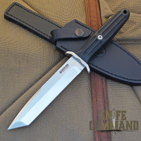 BOKER SPECIAL RUN APPLEGATE EBONY TANTO FIXED BLADE KNIFE.  Ebony handle, only 199 made.