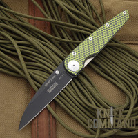 Klotzli Knives Christian Wimpff Yellow Carbon Fiber Titanium Folding Knife