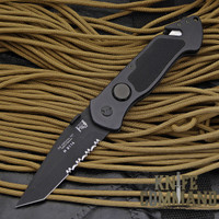 Eickhorn Solingen PRT X Black Tanto Tactical Emergency Rescue Knife.  Black tactical tanto  edc.