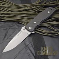 Fantoni HB 01 William Harsey Carbon Fiber Combat Folder Tactical Knife.  Carbon Fiber Edition.