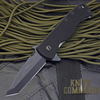 Emerson CQC-7F Flipper Knife.  Stealthy black tactical folder now with a flipper tang.