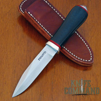 "Randall Made Knives Non-Catalog Model Gambler 4"" Black Micarta Boot Knife.   A beautiful form of self defense."