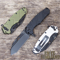 Wander Tactical Hurricane Folding Knife.  Black, OD Green, and Satin.