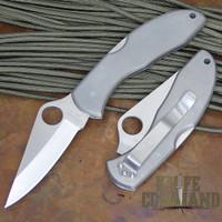 Spyderco Delica Titanium ATS-34 Plain Edge Knife.  Japan market version.