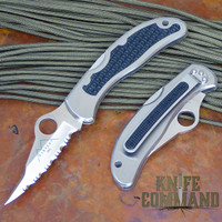 Spyderco Worker 1991 Everest Edition Serrated Edge Knife.  New old stock in Japan market box.
