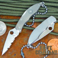 Spyderco Mini Police Titanium ATS-34 Keychain Knife.  Perfect for collectors and they make great gifts.