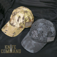 Emerson Knives Skull Hat Cap Kryptek Camo Pattern.  Skull logo and Kryptek camouflage.