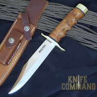 Randall Made Knives Model 12 6 Sportsman's Bowie Knife.  Stainless steel and finger grips.