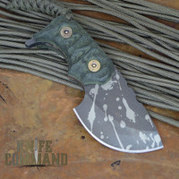 Wander Tactical Tricertops Knife Dark Forest Micarta Evil Black Blood Gunkote.  Custom version direct from Italy.