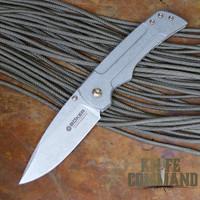 Boker Gulo Steve Kelly Stonewash Titanium Frame Lock Knife 110655.  Custom quality.