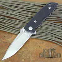Fantoni HB 03 William Harsey Combat Folder Tactical Knife Black.  Mid sized Harsey folder.