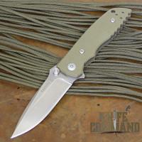 Fantoni HB 03 William Harsey Combat Folder Tactical Knife OD Green.   Mid sized Harsey.