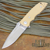 Fantoni HB 03 William Harsey Combat Folder Tactical Knife Coyote Tan.  Classic Harsey design.