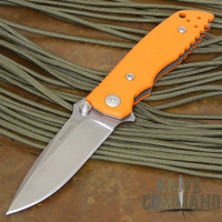 Fantoni HB 03 William Harsey Combat Folder Tactical Knife Blaze Orange.  Harsey combat rescue hunter.