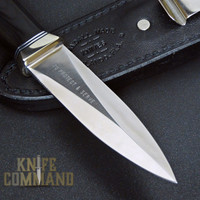 "Randall Made Knives Model 24 Guardian Black Micarta Custom Police Knife.  Blade etched ""TO PROTECT & SERVE""."