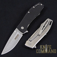 Boker KMP22 Charles Marlowe Ball Bearing Flipper Knife 110658.  N690 stainless steel blade and G-10 handle.
