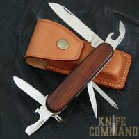 G Sakai Fieldman Trekking Swiss Army Style Pocket Knife Rosewood.  Swiss Army style with a ZDP-189 blade.