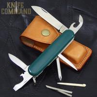 G Sakai Fieldman Trekking Swiss Army Style Pocket Knife Green.  Swiss Army style with a ZDP-189 blade.
