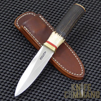 Randall Made Knives Model 24 Guardian Stag Brass Boot Knife.  Custom ordered Stag.
