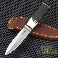 Randall Made Knives Model 24 Guardian Stag Boot Knife.  Gorgeous, thick Stag handle.