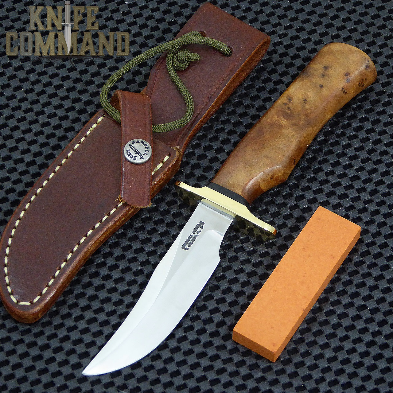 Randall Made Knives Model 8-4X Old Style Bird and Trout Thuya Fighter Style Knife.  Brand new from the Randall shop.