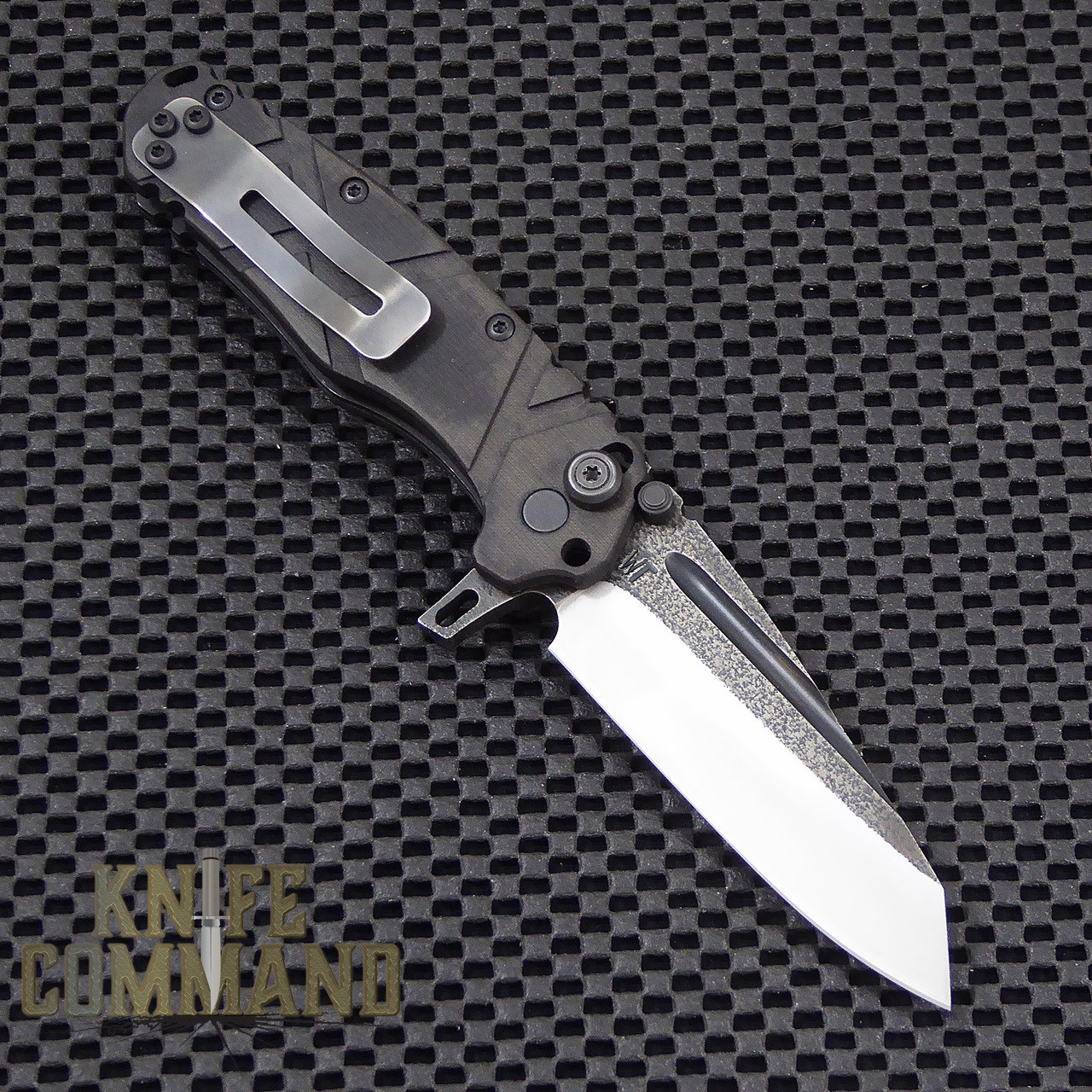 Wander Tactical Custom Sköll Wolf Extreme Duty Folding Knife.  Reversible heavy duty pocket clip.