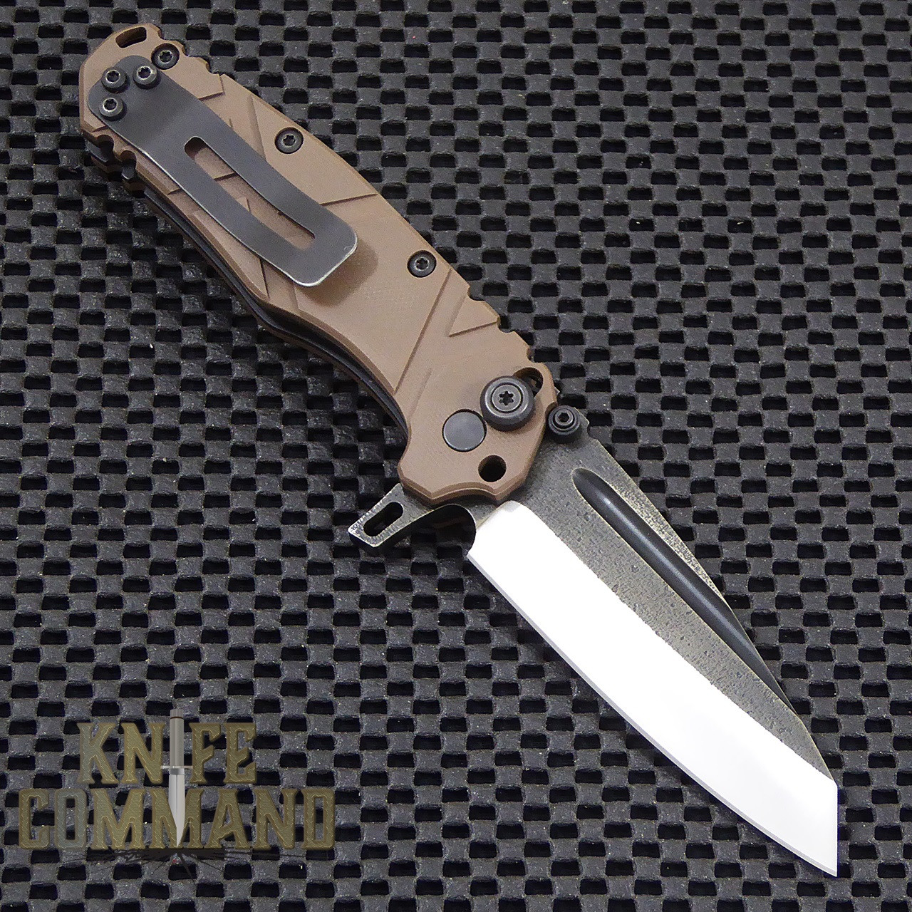Wander Tactical Custom Sköll Wolf Extreme Duty Folding Knife.  Reversible heavy duty pocket clip.