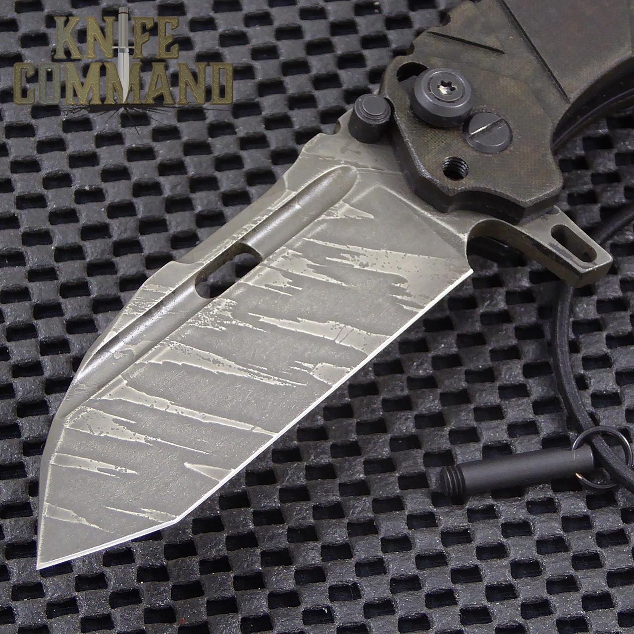 Wander Tactical Custom Hurricane Extreme Duty Folding Knife.  Custom Ice Brush blade finish.