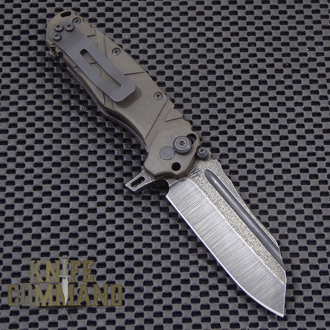 Wander Tactical Custom Mistral Extreme Duty Folding Knife.  Reversible heavy duty pocket clip.