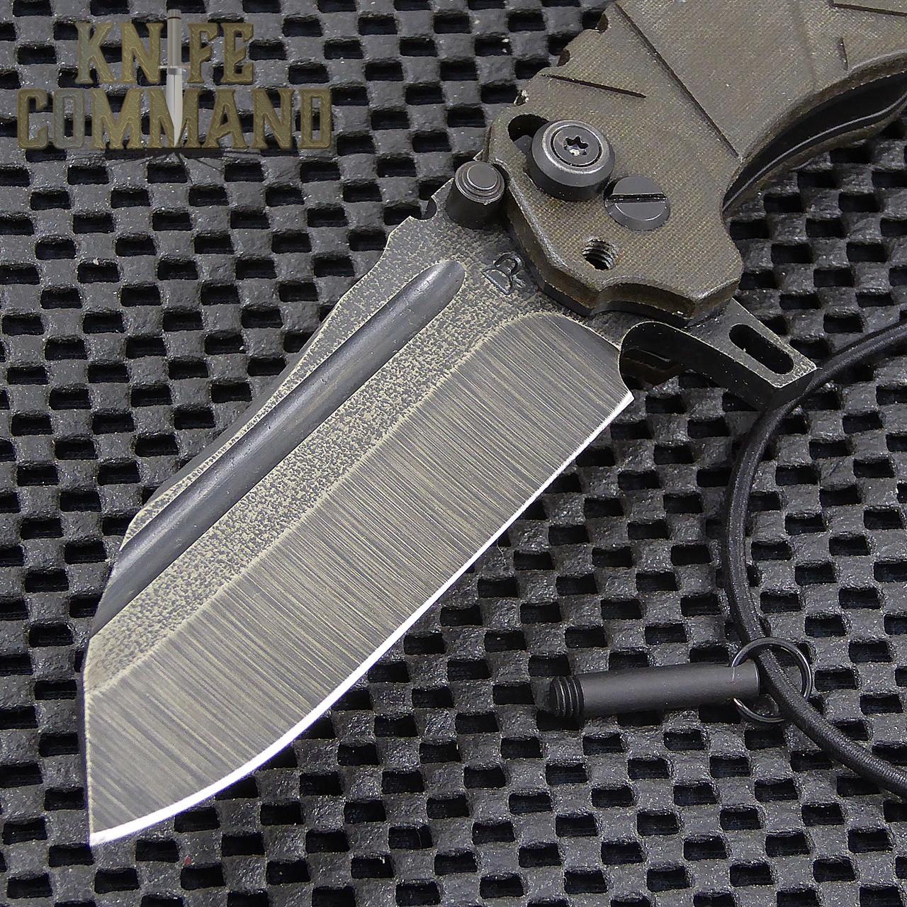 Wander Tactical Custom Mistral Extreme Duty Folding Knife.  Custom Bi-Tone Gunkote finish D2 blade with lock pin.