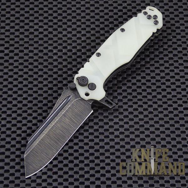 Wander Tactical Custom Mistral Extreme Duty Folding Knife.  Custom Jade Green G10 handles and Bi-Tone Gunkote blade.