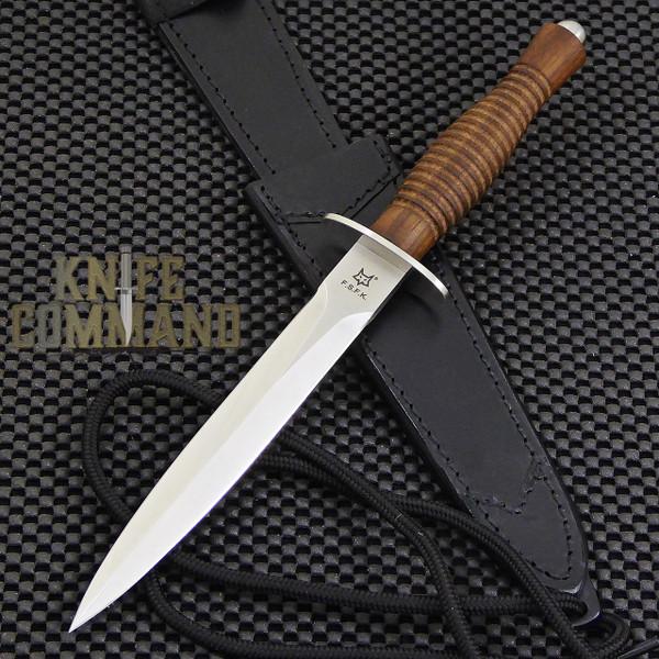 Fox Knives FX-593 Fairbairn Sykes Combat Dagger Knife Walnut.  British Commando Dagger.