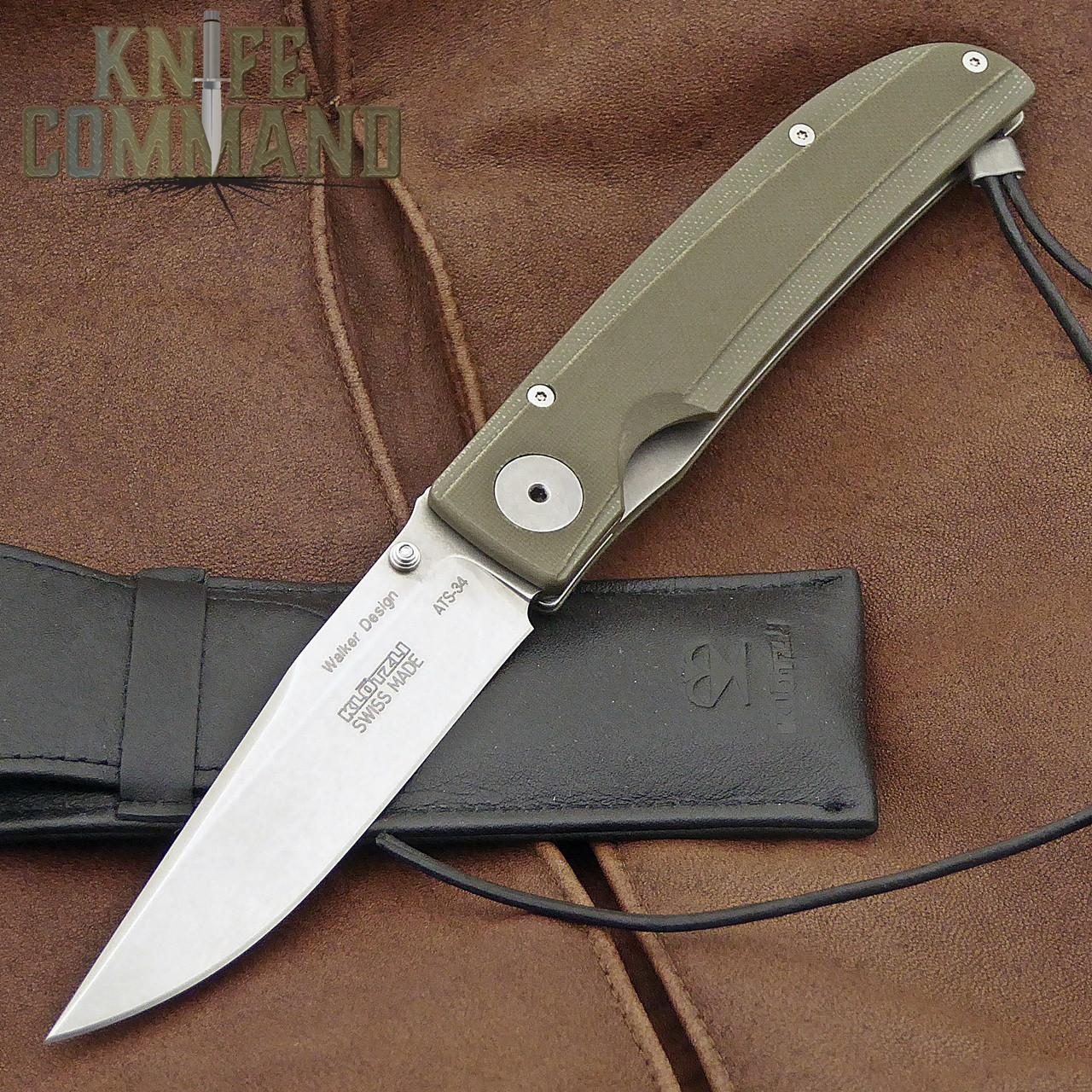 Klotzli Knives Michael Walker 03 Tactical Folding Knife Green WALK-03-TAC-GC.  Tactically civilized.