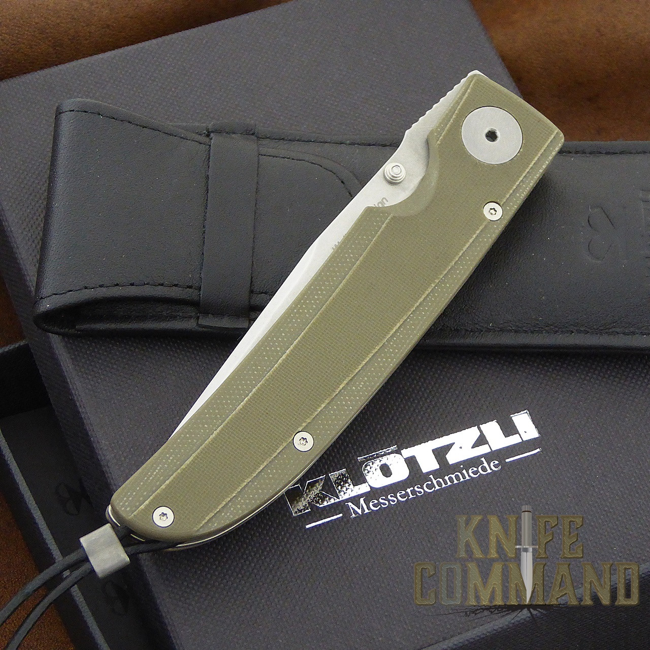Klotzli Knives Michael Walker 03 Tactical Folding Knife Green WALK-03-TAC-GC.  New in box with pouch.