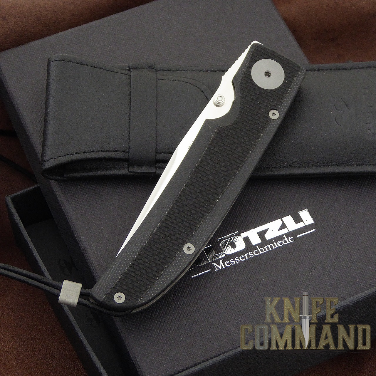 Klotzli Knives Michael Walker 03 Tactical Folding Knife Black WALK-03-TAC-C.  New in box with pouch.