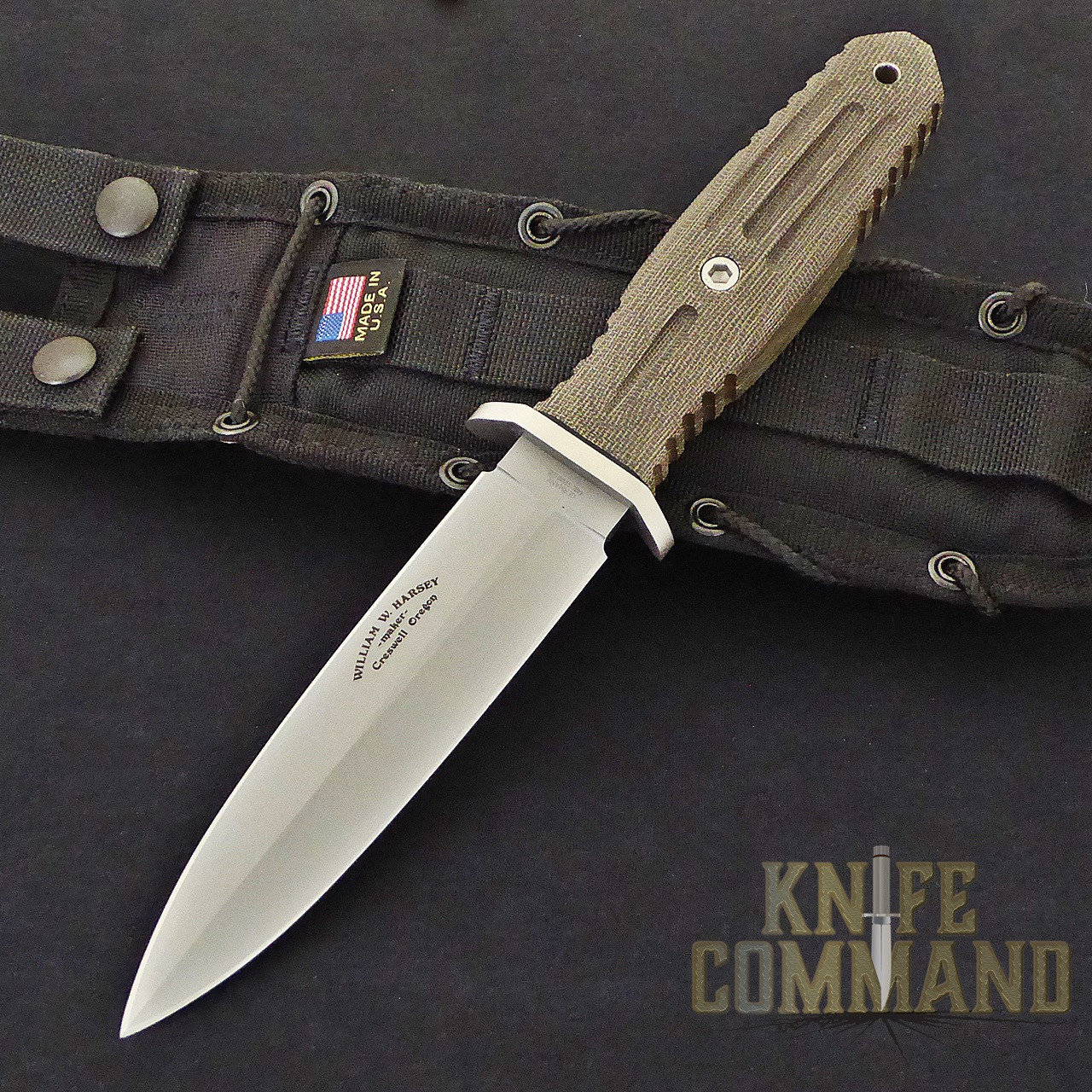 Boker Applegate-Fairbairn A-F 5.5 Harsey Combat Knife 120545.  William Harsey design.