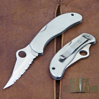 Spyderco Worker SS ATS-55 Serrated Edge Knife.  New old stock in white Japan market box.