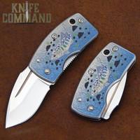 G Sakai Skull Wildlife Series Amago Money Clip Pocket Knife 11168.  Beautiful artwork.