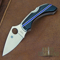 Spyderco Dragonfly Santa Fe Stoneworks Blue Line Special Knife.  A Knife Command Exclusive.