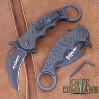 Fox Knives 479 CG10 Folding Karambit Knife Carbon Fiber + Black G10.  Carbon Fiber and G10 handles.
