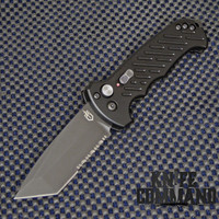 gerber 06 Auto Tanto Blade Automatic Knife Serr 30-000850.  Tanto blade with serrations.