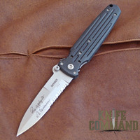 Gerber Applegate Fairbairn Covert Double Bevel Knife, Satin, 154CM, 05785.  A true classic folder.
