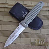 Gerber Applegate Fairbairn Combat Folder Knife, Large, Foliage Green, 22-01608.  Rare, discontinued model.