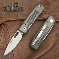 Knives of Alaska Onyx Liner Lock Pocket Knife OD Green / Black G10 00795FG.  S30V drop-point blade.