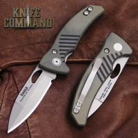 Knives of Alaska Eagle Liner Lock Pocket Knife OD Green / Black G10 00791FG.  Spearpoint S30V blade.