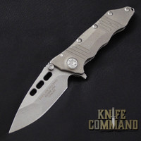Guardian Tactical Helix Nano Titanium Flipper Knife Stonewash 66511.  Premium Titanium version.