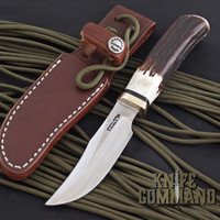 Randall Made Knives Model 8-4X Old Style Bird and Trout Stag Knife.  Stainless steel blade.