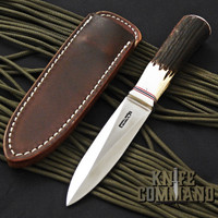 Randall Made Knives Model 24 Guardian Stag Boot Knife Compass Installed.  Custom ordered.