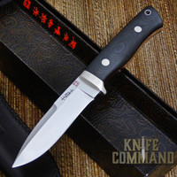 Hattori Knives Dream Hunter Ht-05 Red Hunting Knife.  Handmade, drop-point, recurve hunter.