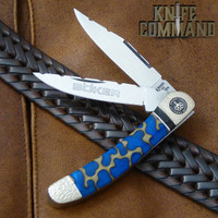 Boker Solingen One of a Kind Copperhead Panama Blue Custom Serial Number 001.  Only one there is!
